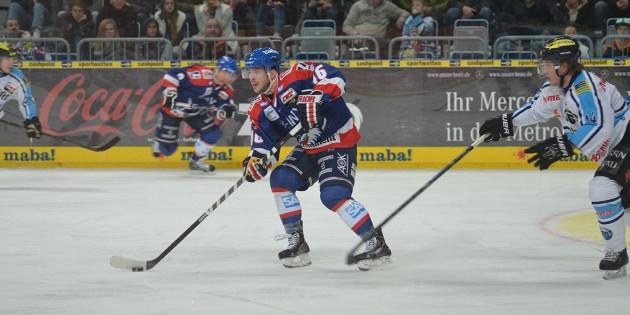 Adler-Stürmer Jon Rheault war auch am Wochenende einer der stärksten Offensivspieler der Mannheimer. Foto. Gernot Kirch