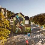BUZ: Die Hausfassade am Neckarufer wurde von Daniel Thouw gestaltet. Foto: ©Metropolink
