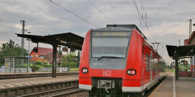 """""""Nicht einsteigen"""" heißt es in den Sommerferien für alle, die mit dem Zug von Biblis nach Gernsheim, Stockstadt oder Biebesheim fahren möchten. Archivfoto: Hannelore Nowacki"""