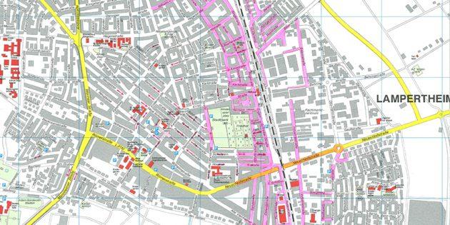 Der Lärmaktionsplan für das Gebiet der Stadt Lampertheim. Foto: oh