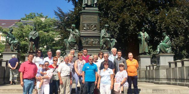 Blick über die Grenzen: Die CDU Bürstadt besuchte die Partnerstadt Worms mit dem Rad. Foto: oh