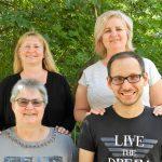 Das Betreuungsteam der Seehofschule: Manuela Ehret, Michaela Flaig (hinten v.l.), Martina Winter-Mayer und Tobias Liebscher (vorne v.l.).Foto: ehr