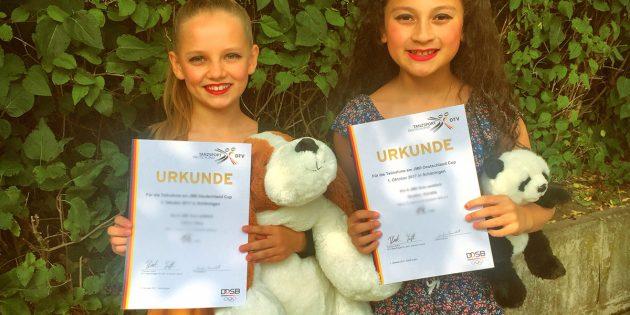 BUZ: Nica Habel und Aurelia Gruber zeigten beim Deutschland Cup der Kinder ihr Können. Foto: oh
