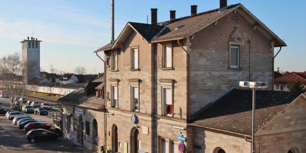 Soll auch dank der Förderung seitens des Landes zur Visitenkarte von Bürstadt werden: Der Bahnhof. Archivfoto: Hannelore Nowacki