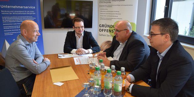 BUZ: Auch diesmal fand der Gründer- und Unternehmersprechtag in den Räumen der Wirtschaftsregion Bergstraße / Wirtschaftsförderung Bergstraße GmbH (WFB) in Heppenheim statt. Foto: WFB
