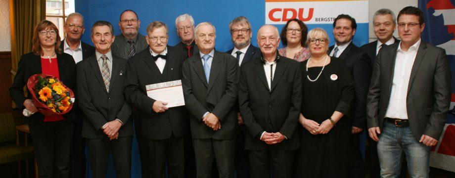 Die CDU-Spitze ehrte im Rahmen des Neujahrsempfang ihre langjährigen Mitglieder. Foto: Eva Wiegand
