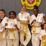 Die Kämpfer der Judoverein Samurai Bürstadt sind zurecht stolz auf ihre Leistungen. Foto: oh