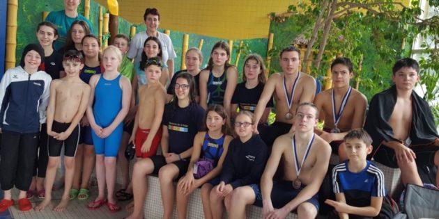 BUZ: Die Schwimmer der SG Neptun Lampertheim belegte in der Gesamt-Vereinswertung einen sehr guten dritten Platz. Foto: oh