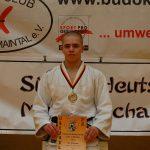 Der Bürstädter Judoka Ian Störmer holt Gold auf der Südwest-Deutschen U21-Einzelmeisterschaft und qualifiziert sich für die Deutschen Meisterschaften dieser Altersklasse. Foto: oh