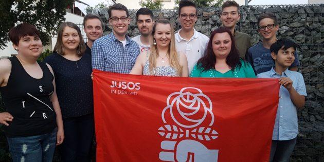 Der neu gewählte Vorstand der Jusos. Foto: oh