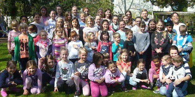Beim Ephata Kinderchorprojekt waren wieder zahlreiche Kinder mit Feuereifer dabei. Foto: oh