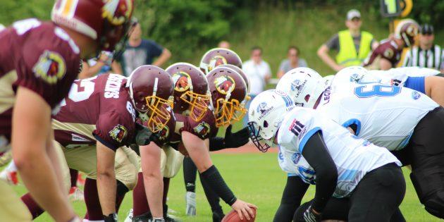 BUZ: Die Bürstädter Redskins feierten beim Footballfest auch sportlich Erfolge. Foto: oh