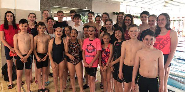 Die Schwimmer der SG Neptun Lampertheim bewiesen erneut ihre Klasse – diesmal aber nicht nur beim Schwimmen, sondern auch beim Laufen. Foto: oh