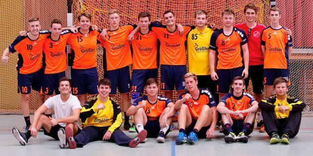 Blicken nach ihrem Turniersieg optimistisch auf die kommende Saison: Die männlichen A-Jugendhandballer des TV Lampertheim. Foto: oh
