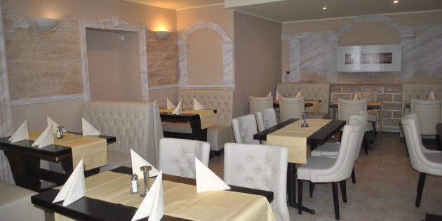 """Freunde griechischer Spezialitäten können sich freuen: Das Hotel Restaurant """"Zum Kaiserhof"""" erstrahlt nach Renovierung in neuem Glanz. Foto: Benjamin Kloos"""
