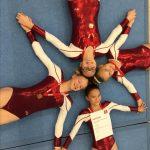 Evelyn Graf, Leonie Langner, Alexia Poubouridis und Sydney Wennemede haben sich für die hessischen Mannschaftsmeisterschaften qualifiziert. Foto: oh
