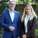 Setzen den Fokus verstärkt auf Integration: Landrat Christian Engelhardt und die Integrationsbeauftragte des Kreises, Viktoriya Ordikhovska. Foto: oh