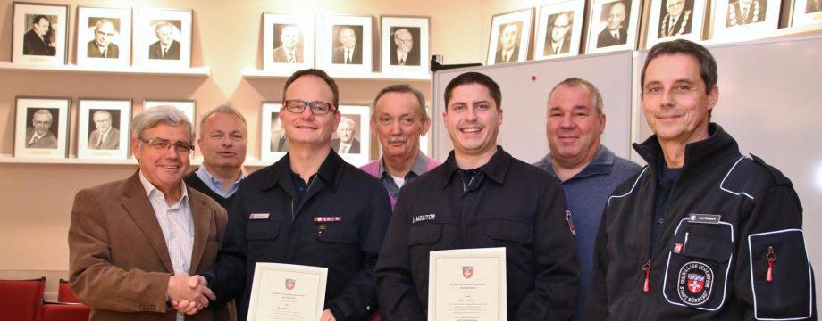 Ernennungsurkunden für Führungskräfte der Freiwilligen Feuerwehr