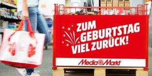 Bei MediaMarkt gibt es jetzt bis zu 500 Euro Geburtstagsgeld. Foto: oh