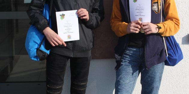BUZ: Justas Vitkunas und Trinity Eckhardt präsentieren Stolz ihre Auszeichnungen. Foto: Ehret