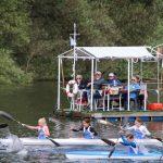 Der Altrhein zum Genießen und Sport in Koexistenz. Foto: Hannelore Nowacki