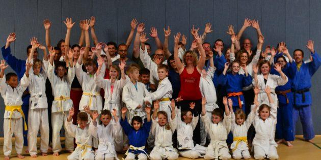 BUZ: Judo gehört zu Bürstadt - Spaß gehört zum Judo! Foto: oh