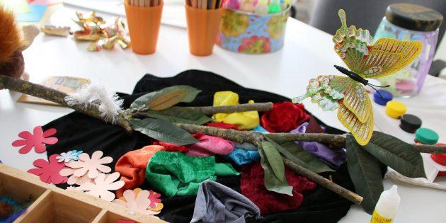Trauer und Abschied finden emotionale Ausdrucksmöglichkeiten beim thematischen Gestalten, Malen und Basteln. Foto: Hannelore Nowacki