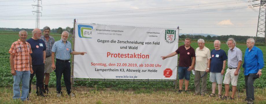 Gegen die Zerschneidung von Feld und Wald und für ein lebenswertes Lampertheim: Die BILA und die Landwirte rufen zu einer besonderes Protestaktion auf. Foto: Benjamin Kloos
