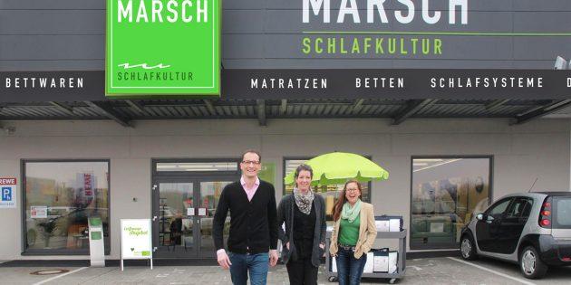 Das Team von MARSCH Schlafkultur freut sich auf Ihren Besuch und die Wiedereröffnung am 29. November. Foto: oh
