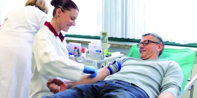 Blutspenden kann leben retten – auch in Zeiten der Corona-Epidemie. Foto: DRK-Blutspendedienste