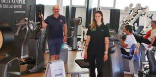 Trainerin Natalie Morweiser und Inhaber von Activity Fitness Bernard Farac blicken positiv in die Zukunft. Denn Fitness macht Spaß und schafft Zufriedenheit. Fotos: Hannelore Nowacki