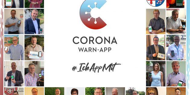 Die Kreisspitze sowie die Bürgermeister des Kreises rufen zur Nutzung der Corona-App auf. Foto: oh