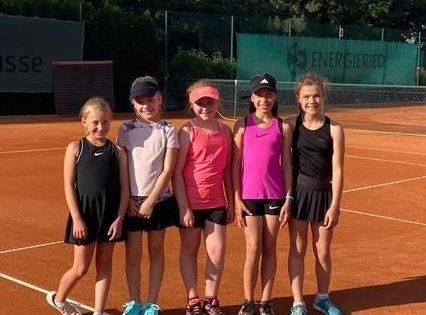 Die U12-Juniorinnen des TC Lampertheim. Foto: oh
