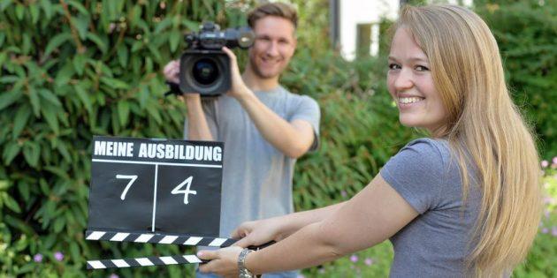 """Beim Wettbewerb """"Meine Ausbildung - Du führst Regie"""" des hr war auch das Litauische Gymnasium beteiligt. Foto: hr/Dirk Ostermeier"""