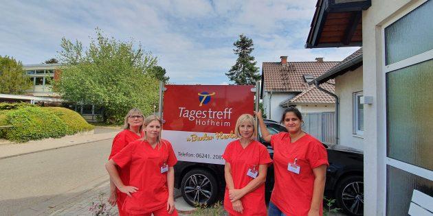 """Beim Team des Tagestreffs """"Bunter Herbst"""" sind die Senioren in guten Händen. Von links: Sabine Reuter, Melanie Schneider, Annette Brune und Stefanie Hack. Foto: oh"""