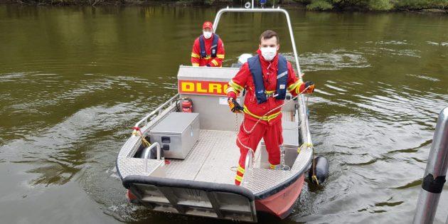 Wie auch die Anfahrt der Boote verlief die Übung der DLRG reibungslos. Foto: oh