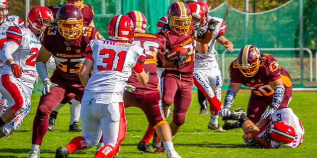 Packende Spielszenen und am Ende große Freude: Die Redskins Seniors sicherten sich die Hessische Vizemeisterschaft. Foto: oh