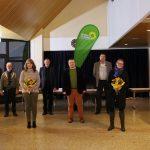 Auf der Kandidatenliste für die Kommunalwahl am 14. März 2021 mit 18 Kandidaten stehen sie ganz oben (von links): Marilyn Menger (8.), Jürgen Meyer (5.), Iris Henkelmann (3.), Stefan Nickel (4.), Gregor Simon (2.), Alexander Morawetz (6.), Mirja Mietzker-Becker (1.) und Michael Aberle (7.). Foto: Hannelore Nowacki