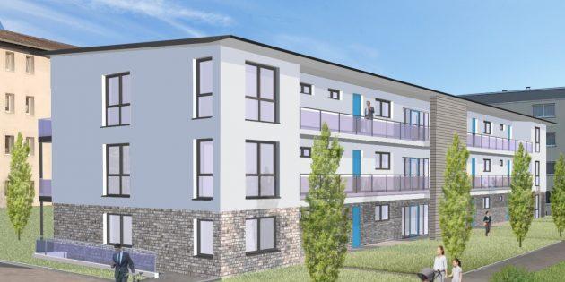 In der Adlerstraße 2a werden durch die Baugenossenschaft Lampertheim 15 neue Sozialwohnungen realisiert. Foto: oh
