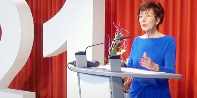 Erstmals wurde in diesem Jahr der Neujahrsempfang in Bürstadt digital durchgeführt – Bürgermeisterin Barbara Schader blickte dabei besonders auf die Lichtblicke der Stadt. Foto: Screenshot