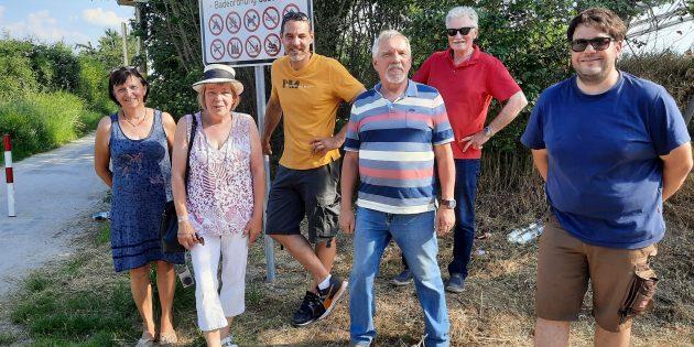 Die Freien Wähler Groß-Rohrheim informierten sich in Gimbsheim, ob das Konzept des Pfarrwiesensee auch für Groß-Rohrheim in Frage kommt. Foto: oh
