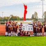 Hessenmeister 2020. Die Redskins U13 nach acht von acht gewonnenen Spielen. Foto: oh