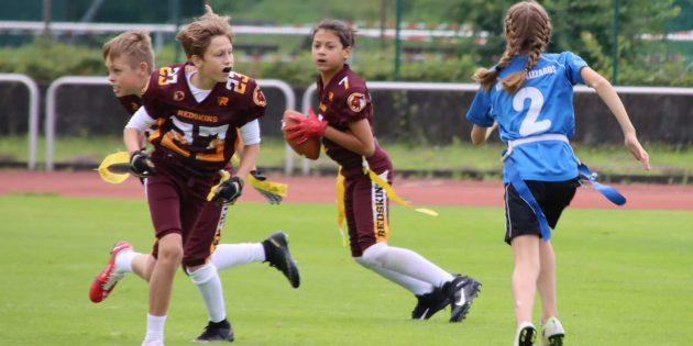 Die jungen U13-Bürstadt-Redskins wurden Vizehessenmeister gegen die starken Kelkheim Lizzards. Foto: Hannelore Nowacki