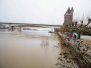 Hochwasser zwischen Worms und Rheindürkheim am 6. Januar