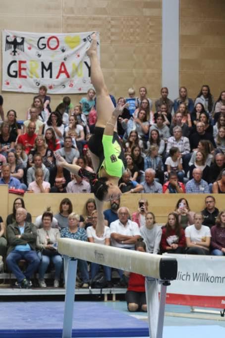 Turn-Länderkampf der Frauen am 7. September 2019 in Worms 016