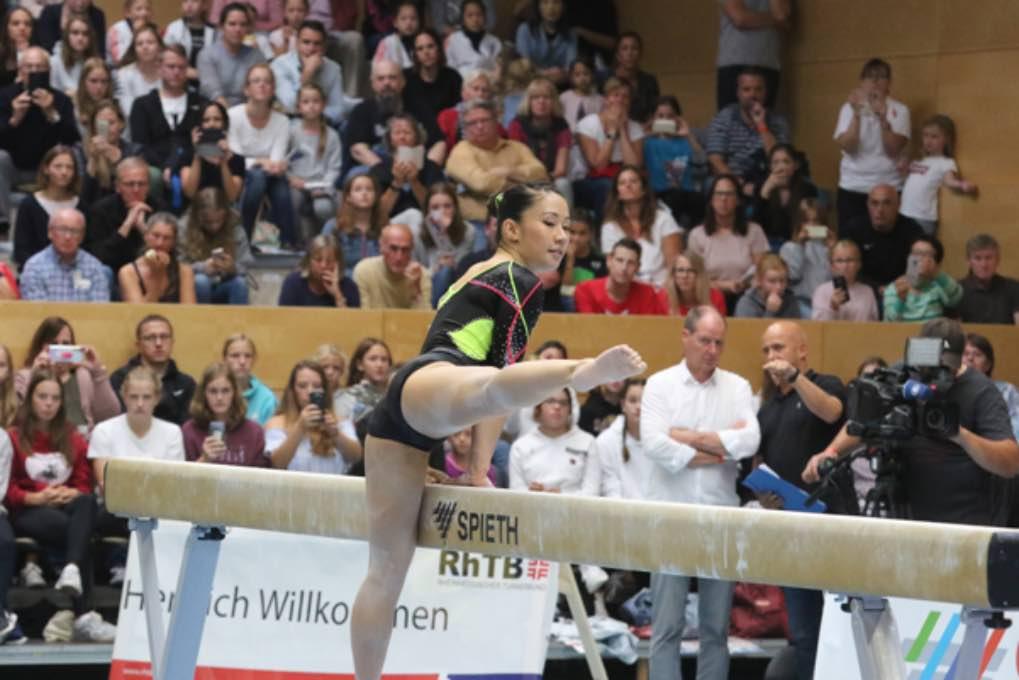 Turn-Länderkampf der Frauen am 7. September 2019 in Worms 021