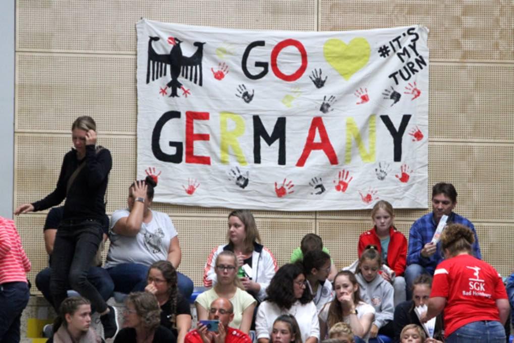 Turn-Länderkampf der Frauen am 7. September 2019 in Worms 079