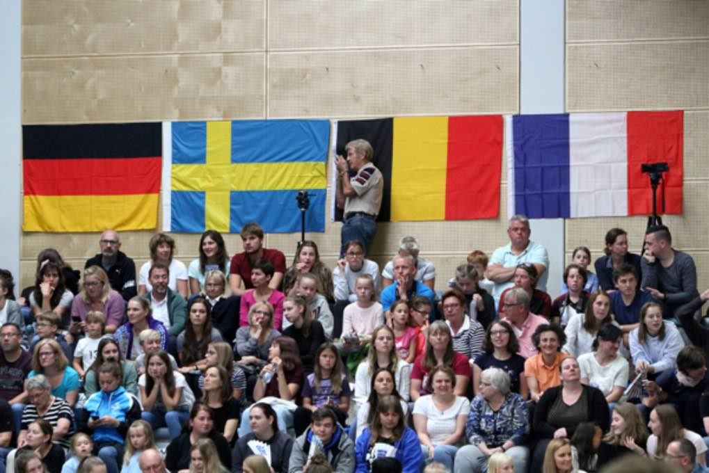 Turn-Länderkampf der Frauen am 7. September 2019 in Worms 080