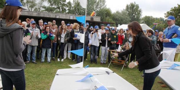Es war ein großer Tag, besonders für die Jugend vom Segelclub Eich, mit der Einweihung der Photovoltaik-Anlage und der Taufe von insgesamt neun Booten. Foto: Klaus Diehl