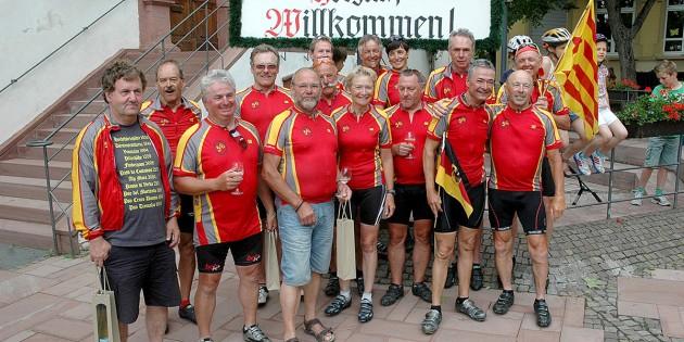 Glücklich über die geschaffte sportliche Herausforderung kamen die zwei Frauen und 13 Männer der RFG Guntersblum von der großen Tour aus der Nähe von Barcelona nach Guntersblum zurück.